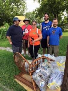 Oregon Hill Neighbors and volunteers cleaned up along Grayland & Idlewood along Harrison.
