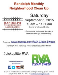 Randolph September 5th CleanUp