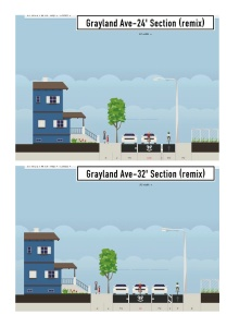 Grayland Ave bike lane - fact sheet