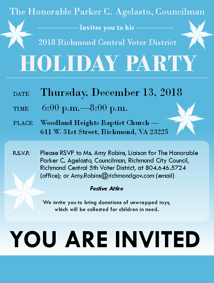 2018 Holiday Party Flyer